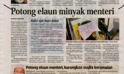 Sinar Harian – 5 September 2013 – Kurangkan perbelanjaan kerajaan, bantu turun defisit