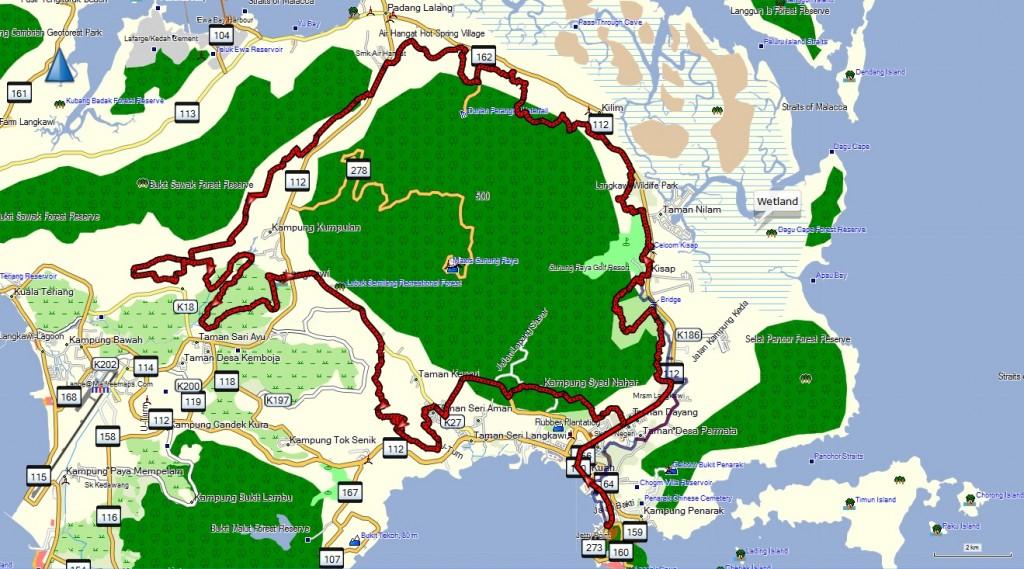 Map UCI Marathon 1 Lap 67 km