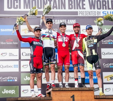 Loss of consciousness and slippery conditions in UCI Mountain Bike World Cup XCO