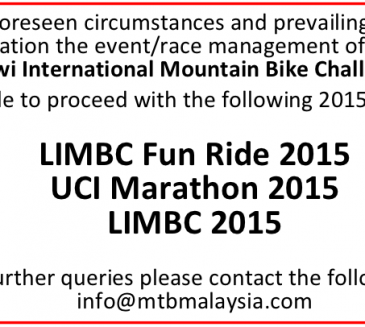 LIMBC 2015 CANCELLATION